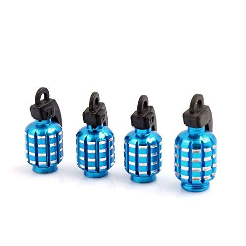 SODIAL(R) Tapa de Valvulade de Neumatico Forma de Granada para Coche - Azul