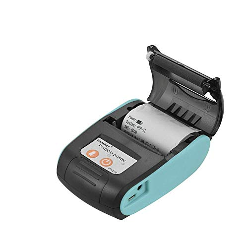 Cicony - Stampante termica per ricevute, mini stampante di ricezione Bluetooth 4.0, portatile, 58 mm, senza fili, per Android e iOS