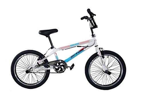F.lli Schiano Hard Road BMX Bicicleta, Hombre, Blanco/Azul, 20'