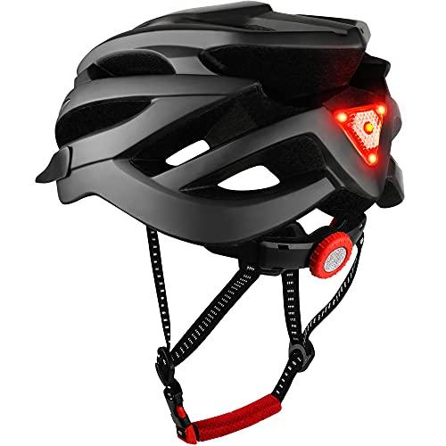 DesignSter Fahrradhelm für Erwachsene Herren Damen Mit CE- und UKCA-Doppelzertifizierung MTB Mountainbike Helm mit Abnehmbarem Visier und Verstellbar Radhelm(Schwarz)