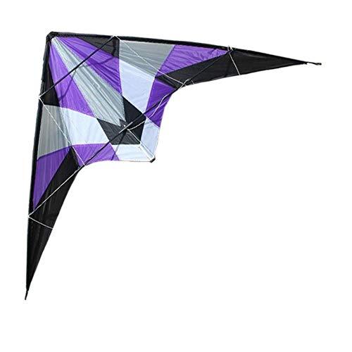 Taoke Drachen, Kinder Kite Schöne Drachen for Kinder einfach zu fliegen for Strand Außen Qualität Reißfeste 1.8m Delta Dual Line Lenkdrachen Breeze (Farbe: Lila) 8bayfa (Color : 3 Pcs)