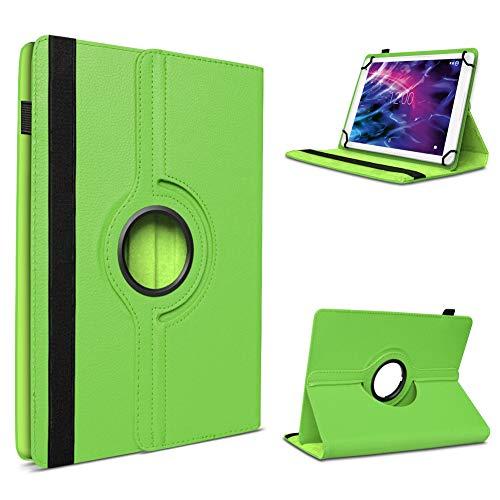 UC-Express Tablet Tasche für Medion E6912 Hülle Schutzhülle Hülle 360° Drehbar Cover Grün