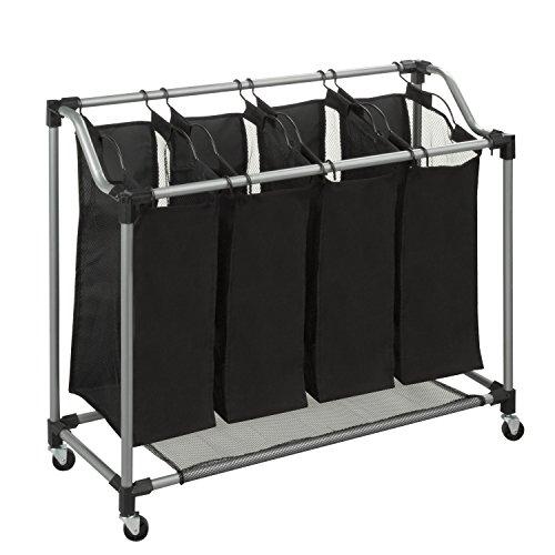 Honey-Can-Do - Organizador de ropa con bolsas de malla (acero), color negro