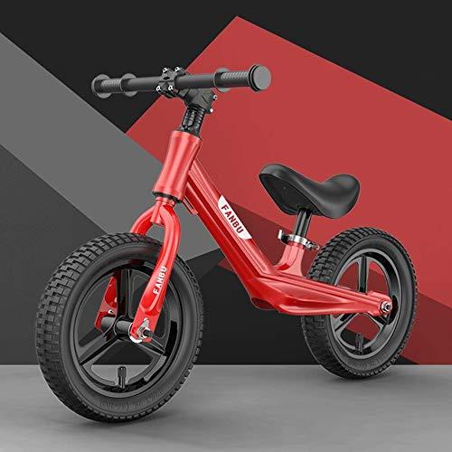 Lihgfw Balance Bike Kinderroller, Spielzeug-Baby ohne Fahrrad, 2-6 Jahre alt Fahrrad Jungen und Mädchen Kinderwagen Two Wheel Scooter (Color : Rot)