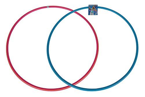 Simba 249669 107402857 - Hula Hoop Reifen, blau oder rosa, Es wird nur ein Artikel geliefert, 80cm Durchmesser, Sportreifen, Gymnastikreifen, Fitness