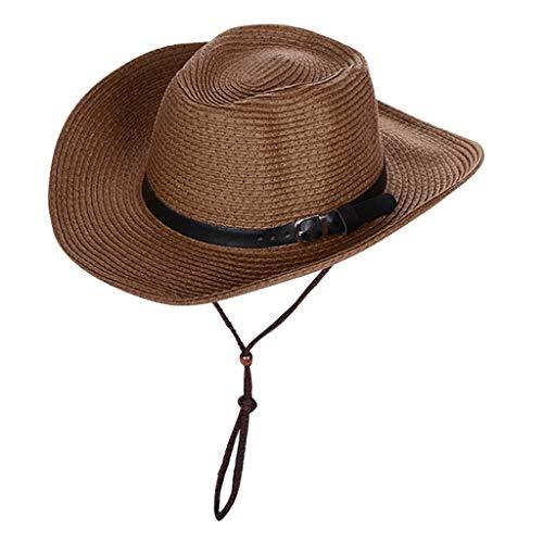 Amuzocity Sombrero de Paja para El Sol - café, unico