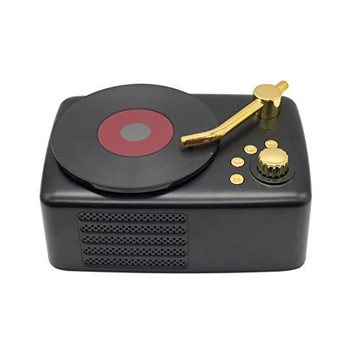QWQ Lautsprecher, MP3-Beweglicher Im Freien High Fidelity Wireless Retro-Plattenspieler Amerikanischen Subwoofer-Lautsprecher FM Radio-TF,C