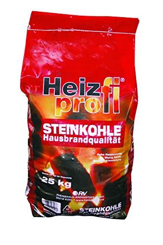 25 kg Steinkohle Hausbrandqualität Ibbenbüren Heizprofi im 25kg Sack Union Kohle Briketts Nusskohle Gluthalter Eierkohle Fettnuss von Energie Kienbacher
