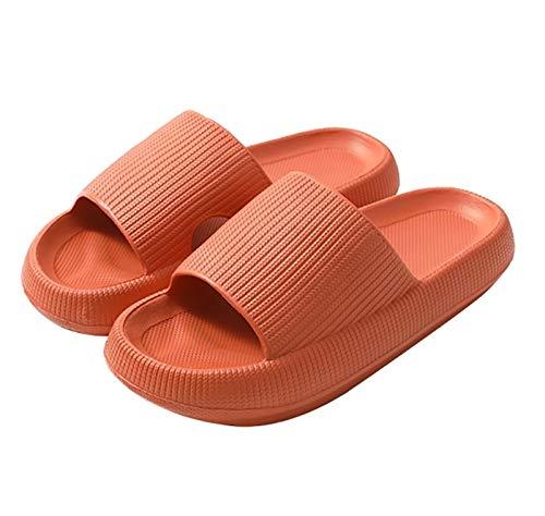 HSY SHOP Zapatillas de Deslizamiento de Almohada súper Suaves, Unisex Zapatillas de Suela Gruesa Antideslizantes Zapatillas de baño de Espuma de Masaje Zapatos Súper Suaves Buena resiliencia