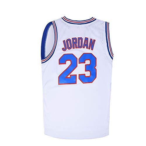 WELETION 23# Space Moive Jersey Mens Basketball Jersey White XL