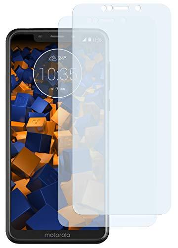 mumbi Schutzfolie kompatibel mit Motorola One Folie klar, Bildschirmschutzfolie (2X)