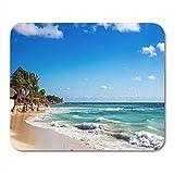 N\A Alfombrilla de ratón Playa Playa del Carmen méxico cancún Maya Riviera américa Alfombrilla para portátiles, Computadoras de Escritorio Alfombrillas de ratón, Suministros de Oficina