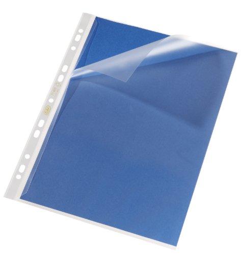 Preisvergleich Produktbild ELBA 100421184 Prospekthülle DIN A4 mit Verschlusslasche links 100 Stück blendfrei genarbt oben und links offen Stärke 0