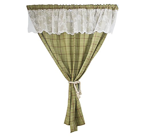 TINE HOME CURTAINS Romeinse gordijn groen rooster katoen linnen keuken kast korte gordijn Semi-Shade klein gordijn voor huis decoratie staaf zak