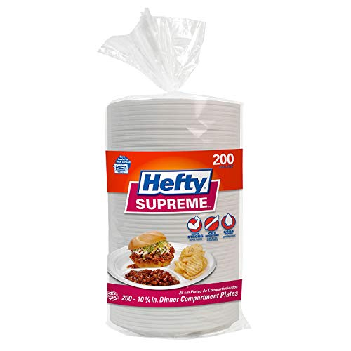 Hefty Supreme 3-Section Foam Plate (200 ct.) - 1 Pack