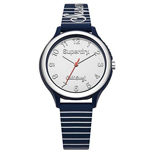 Superdry Damen Analog Quarz Uhr mit Silicone Armband SYL153U