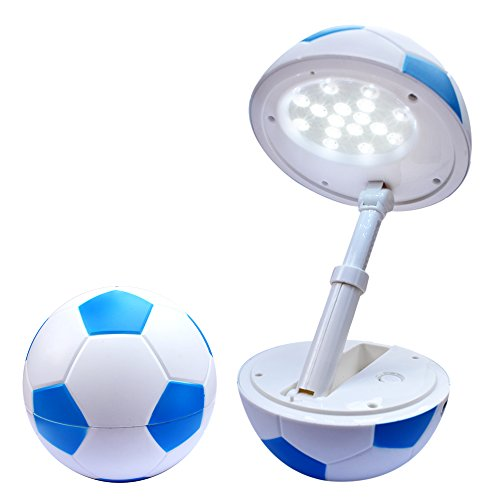 Happy Dream Lampe de Bureau LED veilleuse USB port enfants table tableau dimmable Lampe de table Pliable chevet table chevet de led pliable bureau lampe de luminosité réglable Protectionyeux football Bleu