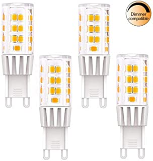G9 LED Bulb Benature 40W Halogen Replacement 3.5W AC120V 400lm 3000K Warm White Bi-pin 360 Beam Angle ETL Listed A++ Dimmable Pack of 4pcs for Pendants Chandeliers Lighting