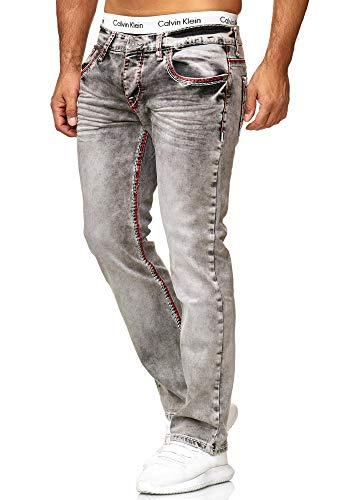 OneRedox Herren Jeans Denim Slim Fit Used Design Modell 5172 34