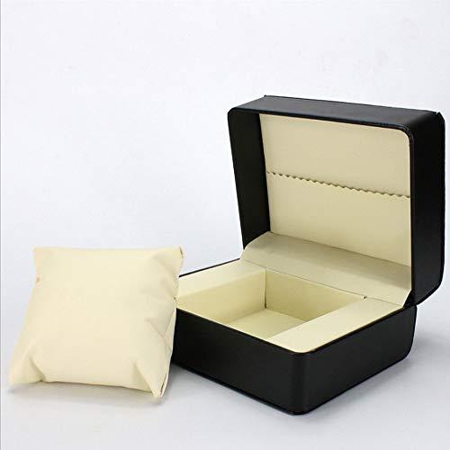 AJH High-end pu lederen horloge doos opslag vitrine, zuurvrije flanel, sieraden doos