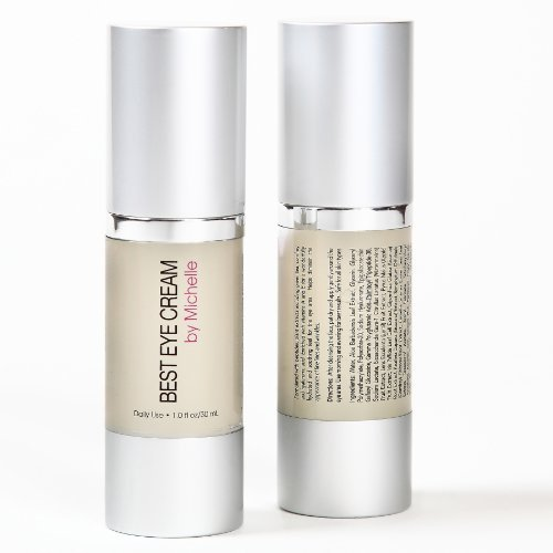 Best Eye Cream by Michelle ~ Combo Anti Aging Eye Gel, Makeup Primer, and Wrinkle Cream for Eye Bags, Dark Circles, Puffiness, Crows Feet, and Fine Lines ~ Retinol, Hyaluronic Acid, Vitamin C (2 Pack)