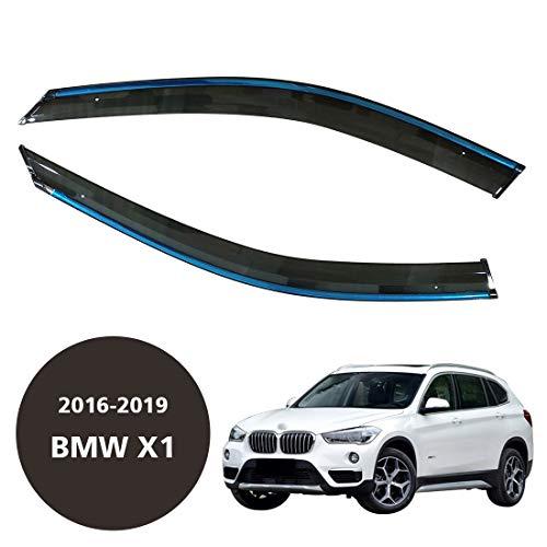 CStern Acryl Glas Voordeur Zijkant Ramen Wind Deflectors Zonnekap Visors Regenschild Weerschilden Sneeuwwachters Donkere Rook Tinted 2 Stks voor BMW X1 F48 2016-2019