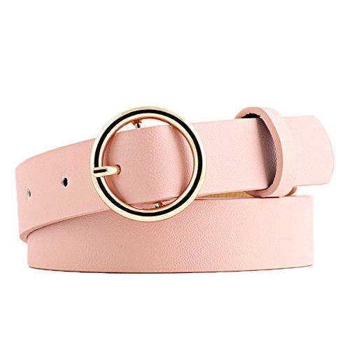 Gespout Cintura Cinturón Cintura Cinturón Cuero Piel Mujer Ropa Jeans Elásticos Deportivos Vintage Belt Regalo de Cumpleaños Organizadores de Herramientas 1pcs Rosa 105cm