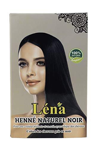 Hennax – Henné Naturel – Noir – Coloration Permanente Cheveux – Végétale – Cheveux Blancs – Revitalisante – Brillance – Soin – 100% Naturel