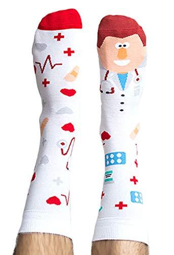 Nanushki unisex lustige verrückte Motiv Socken der Arzt, der Doktor (36-39 EU, Dr Phil Good)