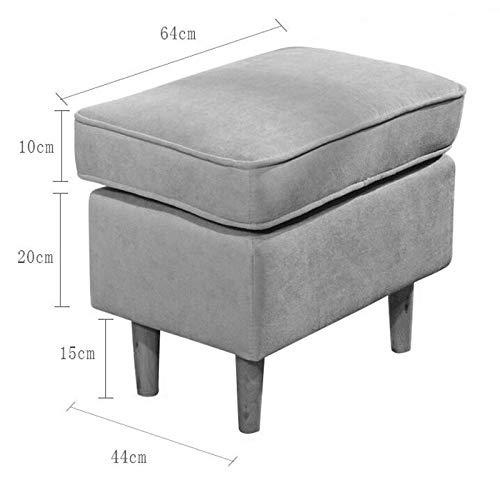 JIAX Taburete De Almacenamiento Multifuncion kleine bureaukruk, aanpasbare sofa-voetenbank pedaal, afneembare en wasbare schoenenbank in eenvoudige stijl, kleine kruk om op te zitten