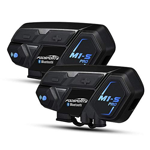 Bluetooth Headset Intercom,Motorcycle Communication Interphone for Motorbike and Skiing (2 Pack of 8 Riders)