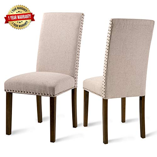 Upholstered Dining Chairs - Dining Chairs Set of 2,Accent Chair Walnut,Metal Dining Chairs