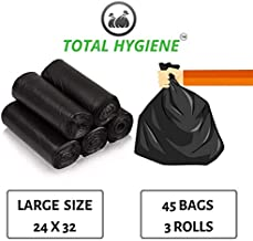 TOTAL HYGIENE Garbage Bag Large Size 24 Inch x 32 Inch (45 Bags) (3 Rolls)