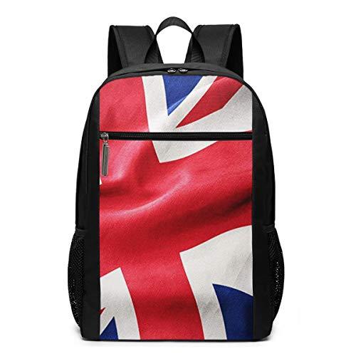 Schulrucksack Union Jack Flagge 9, Schultaschen Teenager Rucksack Schultasche Schulrucksäcke Backpack für Damen Herren Junge Mädchen 15,6 Zoll Notebook
