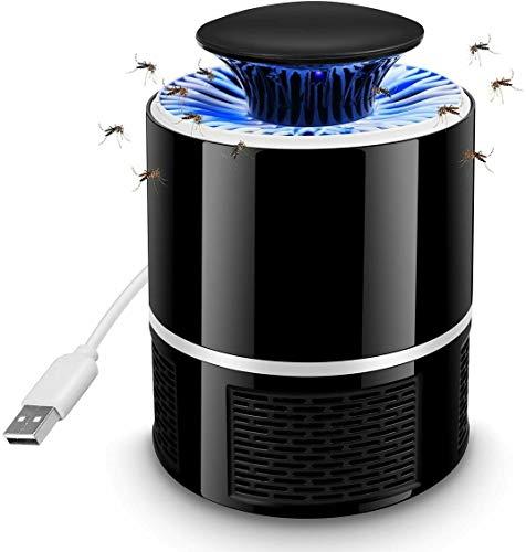 Gosgoly Lampada Antizanzara Elettrica Mosquito Lamp LED USB Ricaricabile Ultra-Silenziosoper Anti Zanzare per Casa/Ufficio/Interno