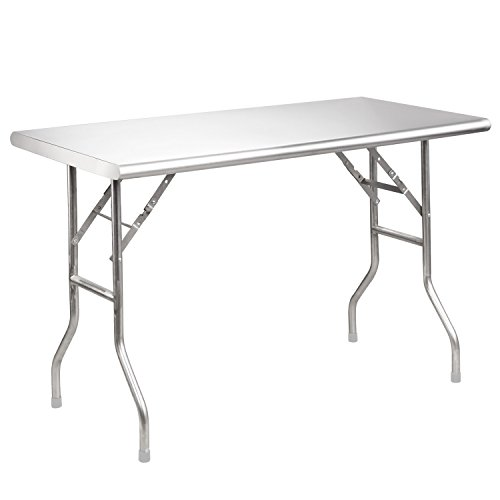 Royal Gourmet Stainless Steel Folding Work Table, 48' L x 24' W