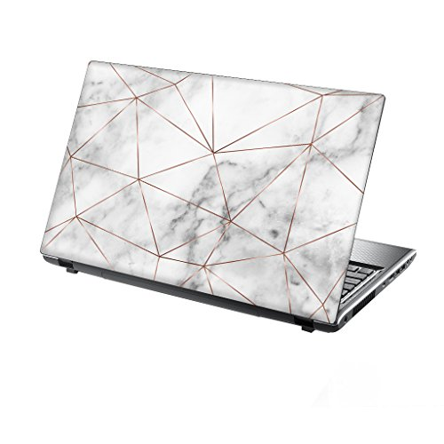 TaylorHe 13-14 inch Laptop Skin Vinyl Decal with Colorful Patterns and Leather Effect Laminate MADE IN England Marble Texture Metal