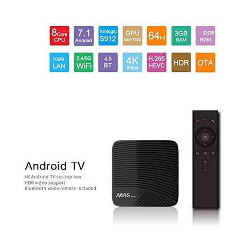 LOISK Android 7.1 TV Smart box/3GB+32GB/ M8S PRO L mit Amlogic S912 64 bit Octa core ARM Cortex-A53 / WiFi 2.4GHz/ 5GHz/ 802.11 b/g/n Gigabit/ 4K HD Smart TV Box Android Box