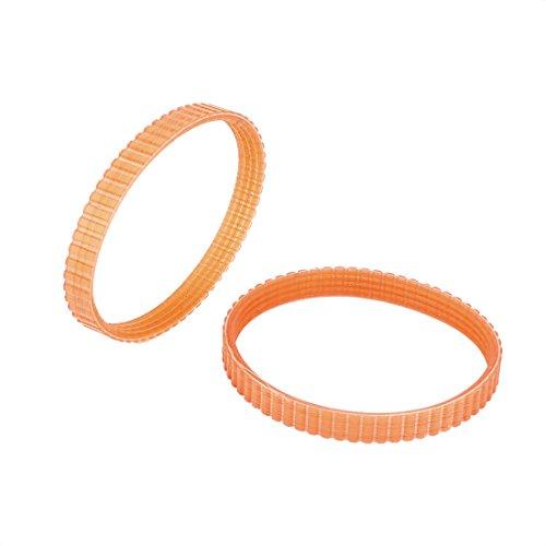 sourcingmap 10mm di larghezza 245mm sottopancia pialla elettrica Cinghia di trasmissione arancione 2pz per Makita 1900B