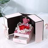 SFFSMD Oso de Peluche de Regalo del día de San Valentín se levantó día del Aniversario de Dos Puertas de Regalo Caja de Regalo de cumpleaños Novia Esposa de la Madre GIF de Navidad (Color : H)