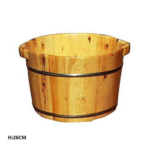 Sgfccyl Pédicure cèdre 26 cm Bain de Pieds Bain de Vapeur Baril Sauna Bain de Pieds Bain de Pieds Massage au Spa
