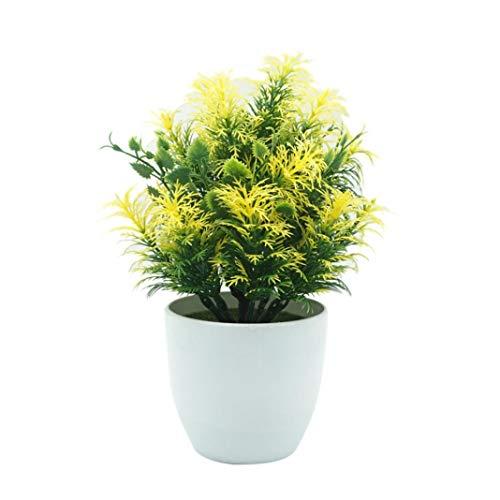 LbojailiAi Flor Artificial 1 Pieza de Cobertura de Bamb¨² Artificial para macetas...