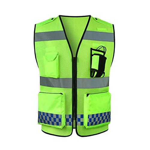 Gilet réfléchissant de sécurité haute visibilité Gilet réfléchissant Trafic Construction Avertissement Costume Riding Night Haute visibilité for hommes Gilet réfléchissant Sécurité Vêtements fluoresce