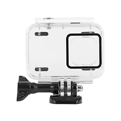 Ccylez Wasserdichtes Gehäuse mit Sockel, 45 m Unterwasserschutz-Tauchtasche, Kamera-Tauchkoffer-Schale für 4k-Action-Kamera(Weiß)