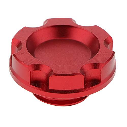 B Blesiya Öleinfülldeckel Aluminiumlegierung Öldeckel Ersatz Deckel - 1 Stück - rot