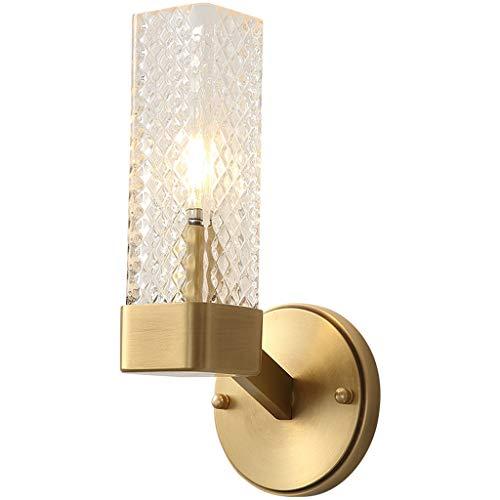 Wandlamp wandlamp wandlamp volledig licht koperglas palen moderne Chinese stijl TV gang slaapkamer hal nachtlampje