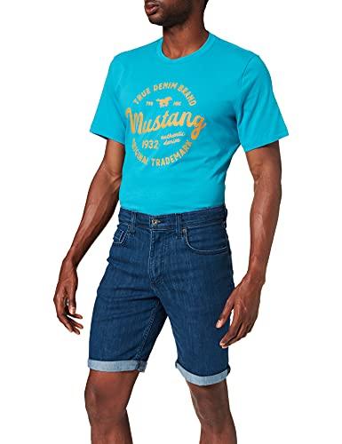 MUSTANG Herren Washington Jeans-Shorts, Mittelblau, 38W