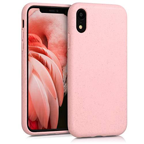 kalibri Cover Compatibile con Apple iPhone XR - Custodia Cover in Silicone e Paglia - Backcover Matt Anti-Impronte - Rosa Chiaro