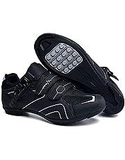 tangjiu Antislip fietsschoenen, ademende straat- en mountainbike-schoenen van koolstofvezel, sportschoenen met reflecterende strepen