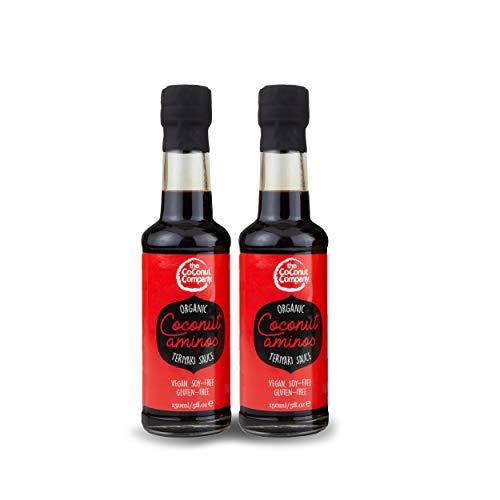 Organic Coconut Aminos - Teriyaki - 150ml - 2 Bottles, Vegan, Naturally Fermented, no-Soy, Low Salt, Non-GM, Gluten-Free